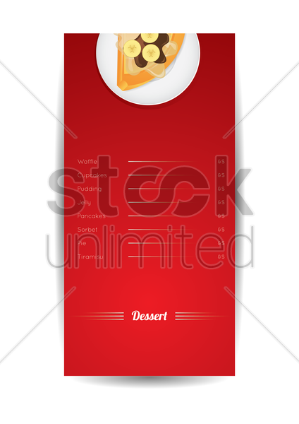 desserts menu poster vector graphic