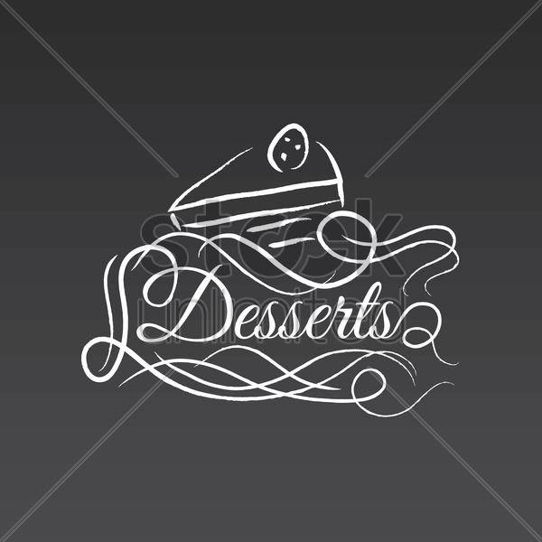 desserts vector graphic