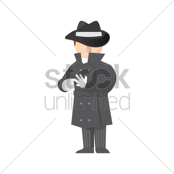 detective with hand gesture vector graphic