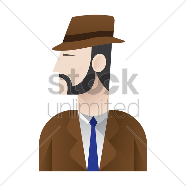 detective vector graphic