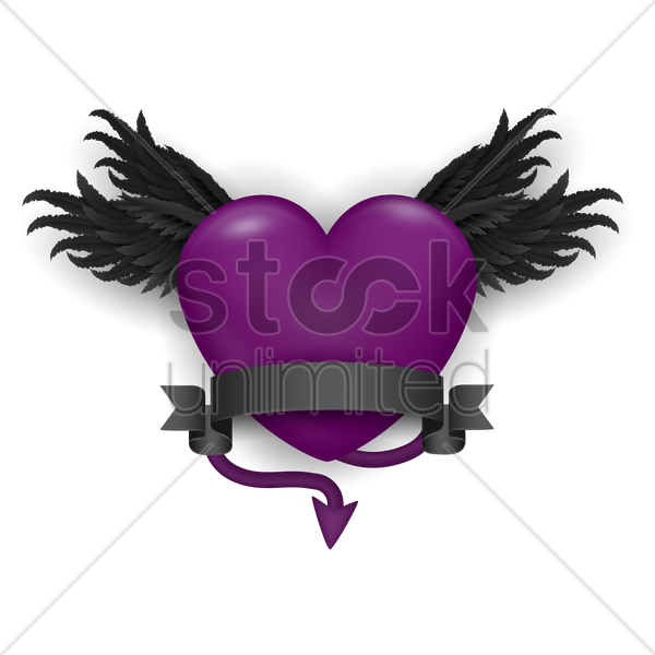 devil heart vector graphic