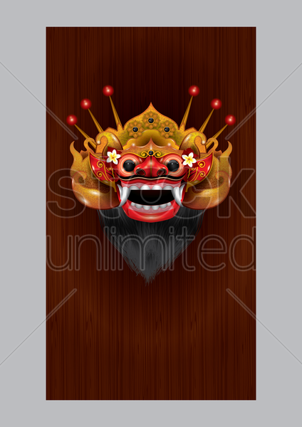 devil mask mobile wallpaper vector graphic
