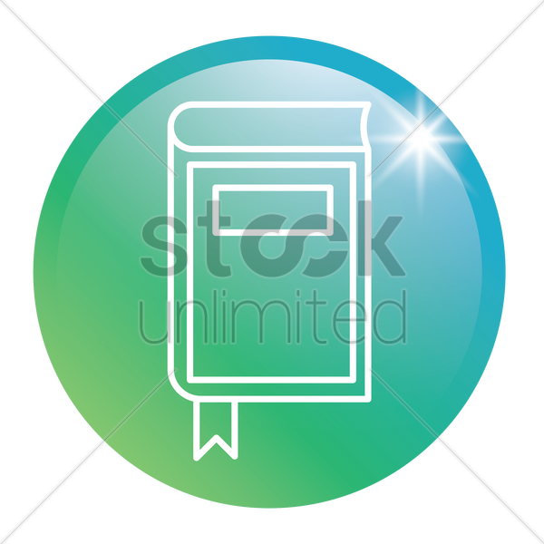 diary glossy button vector graphic