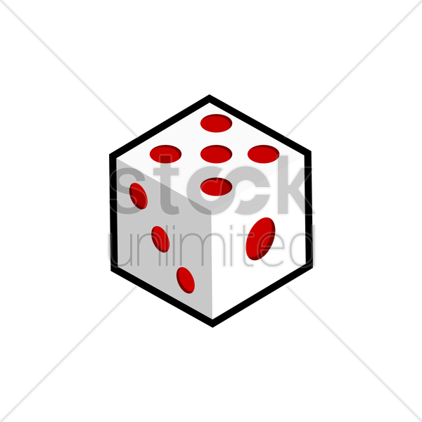 dice vector graphic
