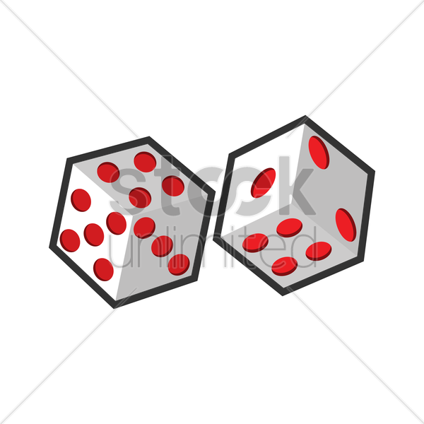 dices vector graphic