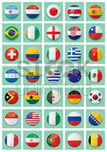 different country badges vector graphic