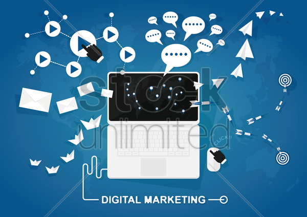 digital marketing vector graphic