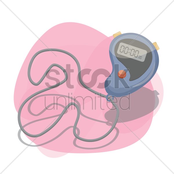 digital stopwatch vector graphic