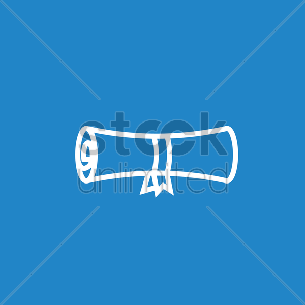 diploma scroll vector graphic