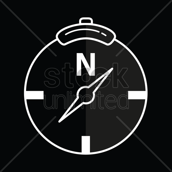 direction compass icon vector graphic