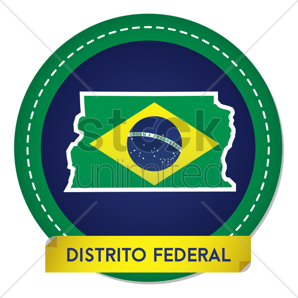 distrito federal map sticker vector graphic