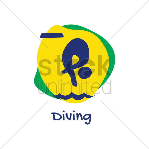diving icon vector graphic