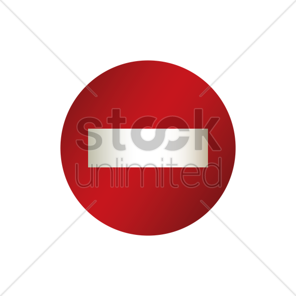 do not enter road sign vector graphic