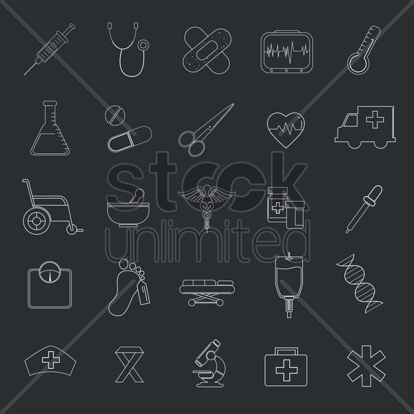 doctor icons vector graphic
