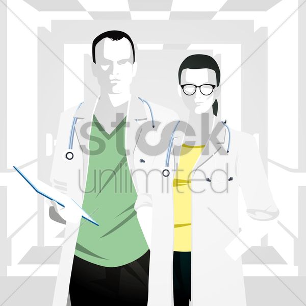doctors vector graphic