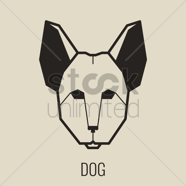 dog vector graphic