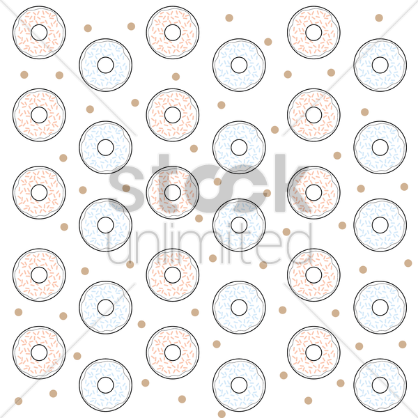 donuts background vector graphic
