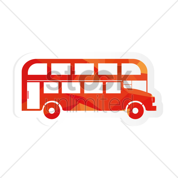 Free double decker bus sticker vector graphic