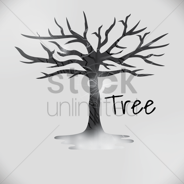 double exposure of tree and nature vector graphic