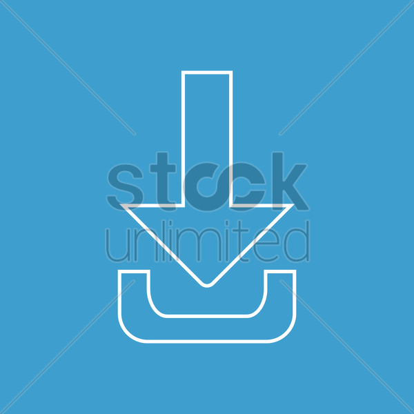 download arrow vector graphic