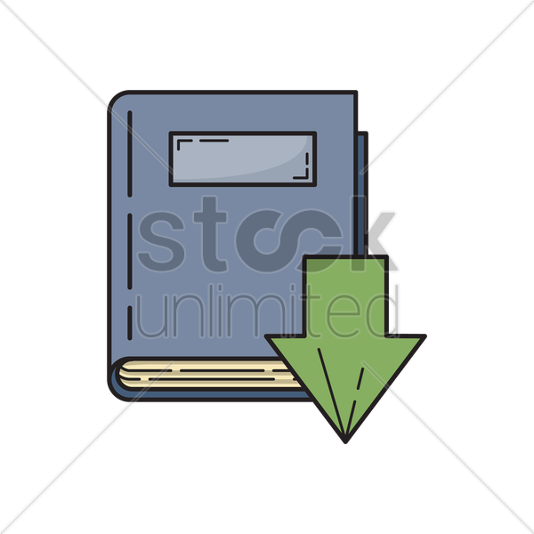 download book icon vector graphic