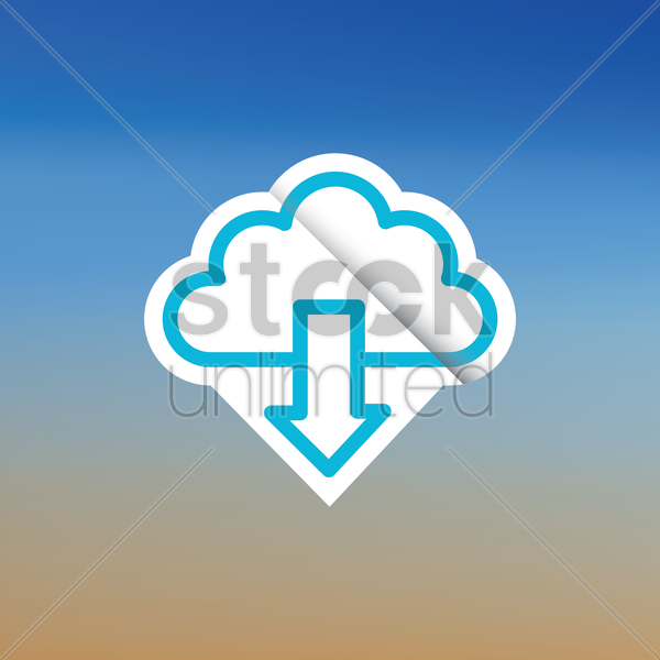 download icon vector graphic
