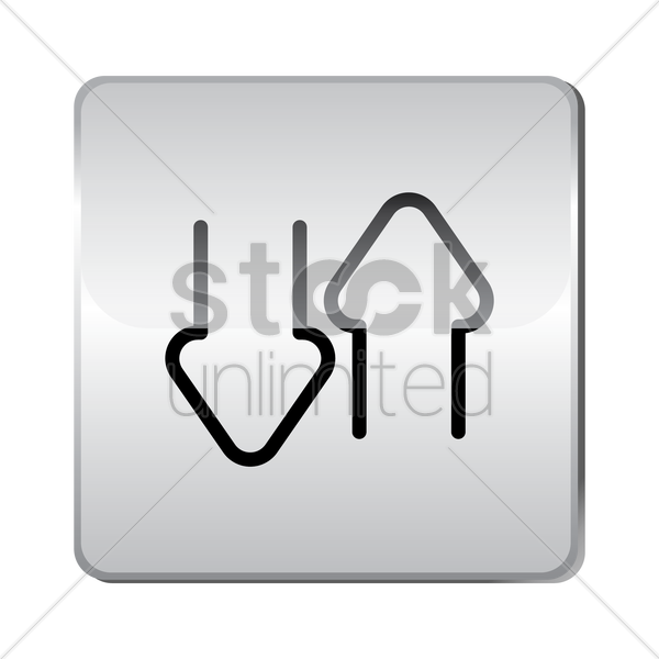 download upload icon vector graphic
