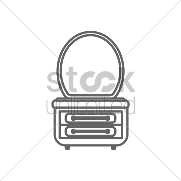 dressing table vector graphic