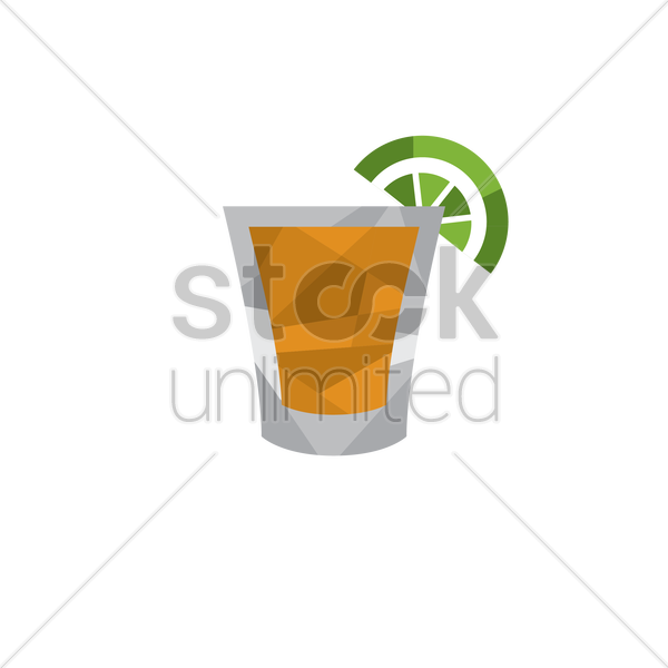 drink with fruit slice vector graphic