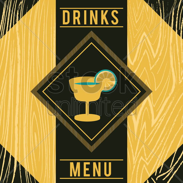 drinks menu vector graphic