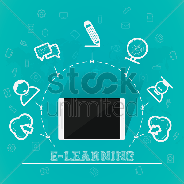 e-learning concept vector graphic