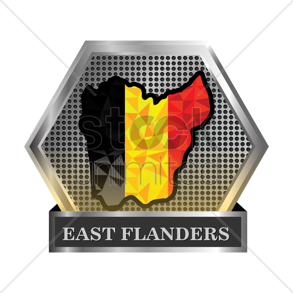 east-flanders map vector graphic