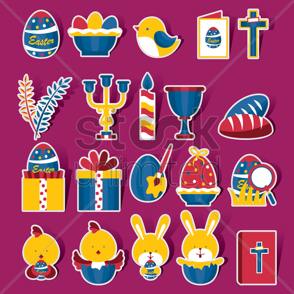 easter celebration vectors vector graphic