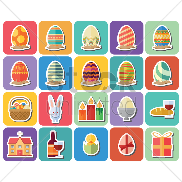 easter collection vector graphic