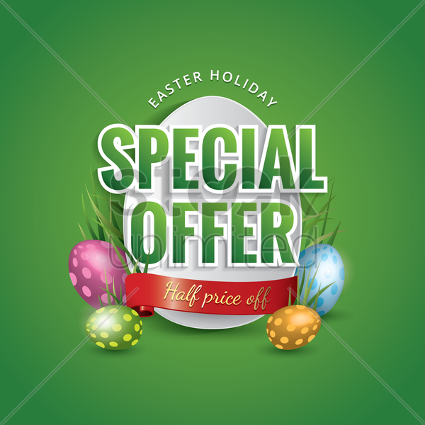 easter holiday special offer vector graphic