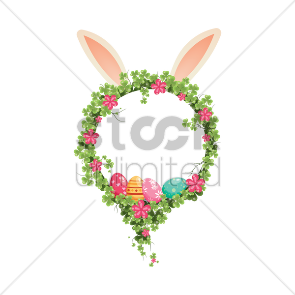 easter wreath vector graphic