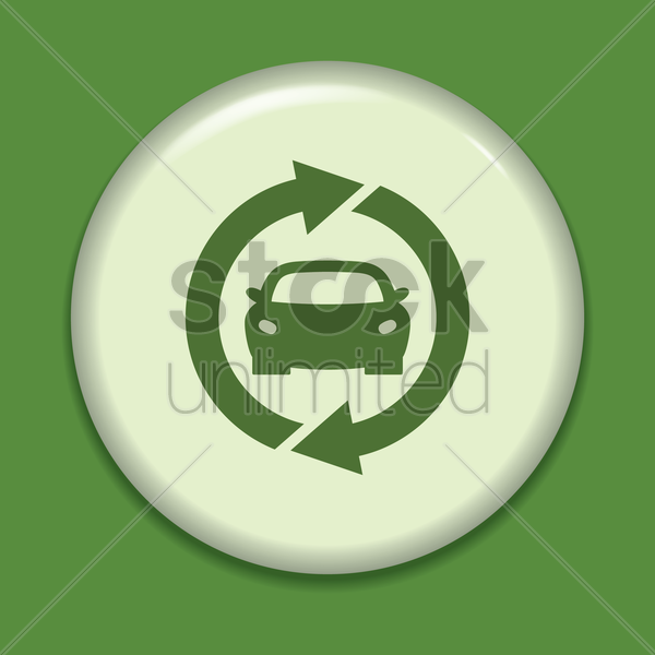 eco car icon vector graphic