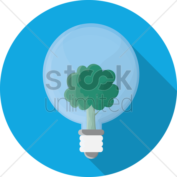 eco friendly bulb vector graphic