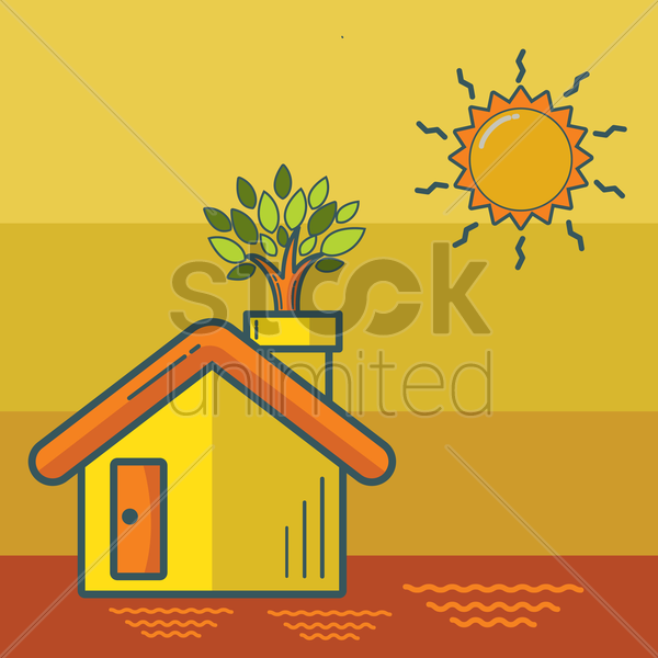 eco home concept vector graphic