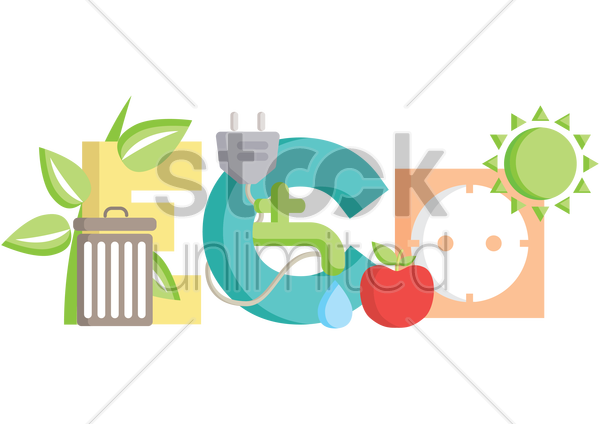 ecology concept vector graphic