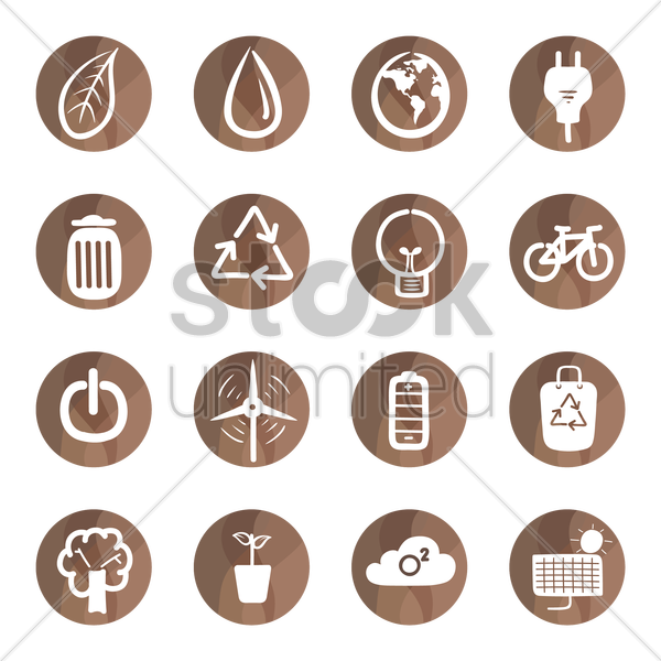 Free ecology icons vector graphic