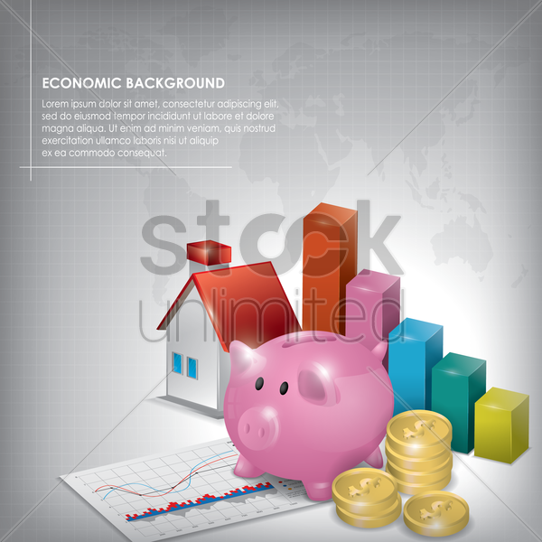 economic background vector graphic