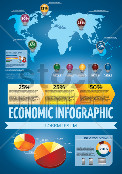 economic infographic vector graphic