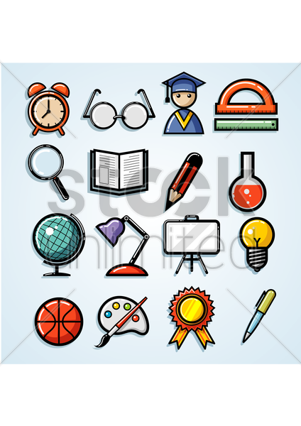 Free education collection vector graphic