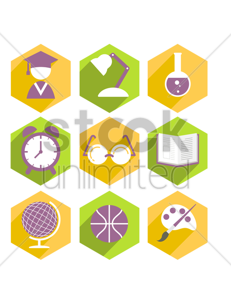 education collection vector graphic