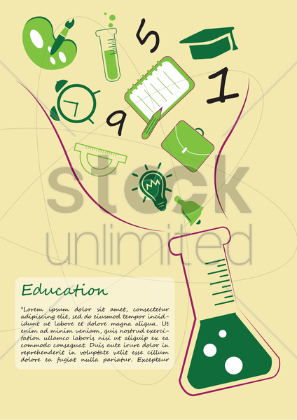education concept design vector graphic