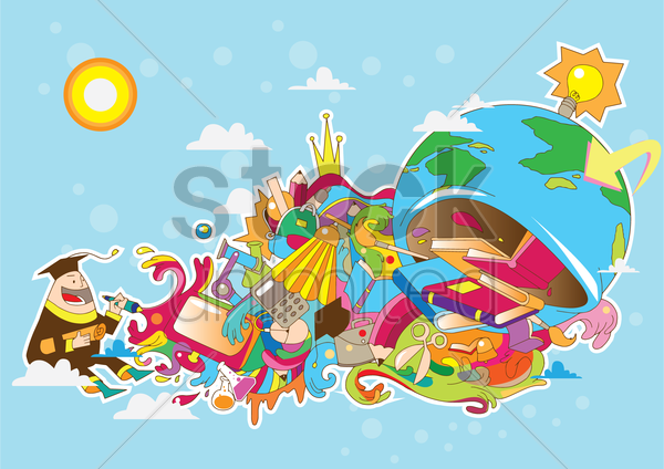 education concept vector graphic