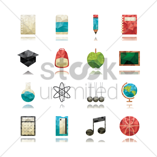 education icon collection vector graphic