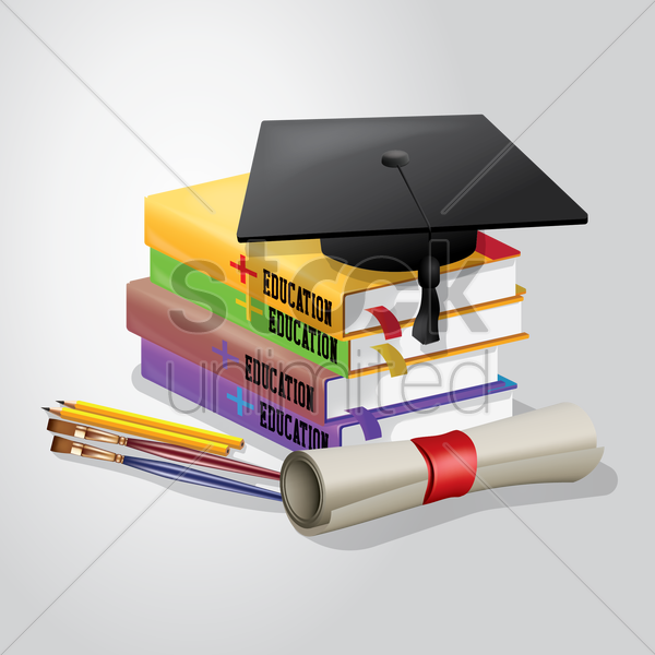 education supplies vector graphic