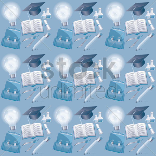 Free education theme background vector graphic